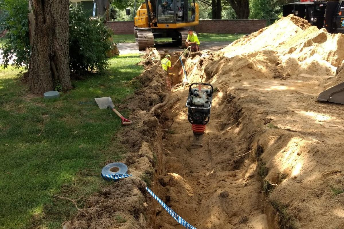 Hydrant install on Susan Ave.